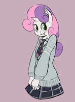 Anthro Sweetie Belle! by FiddleArts
