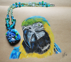ArtCrossing 7: Macaw and Owl by Lucky101212