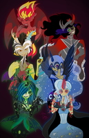 MLP Villains Together by The-Virgo-Fairy