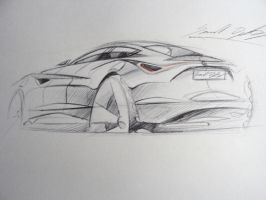 Alfa Romeo 4 door sketch by dyrborgdesign