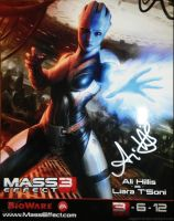 Liara Pic Signed by Ali Hillis by Viggorrah