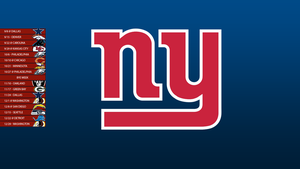 New York Giants 2013 Schedule Wallpaper by SevenwithaT