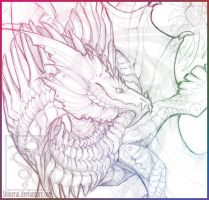 Dragon Sketch by PaintChat-Shinerai