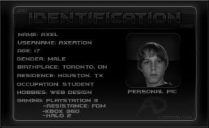 Slick-Black - 2007 ID Card by Axertion