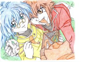 Juadi and Sho -Jaden and Syrus by ex-Tex-the-phoenix