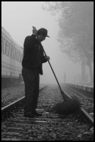 streetcleaner and fog by firxxx