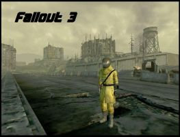 Fallout 3 wallpaper by R by Rthecreator