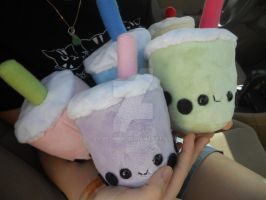 Boba Tea Plushies by Love-Who