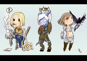 World of Warcraft Chibi -01 by Charneco