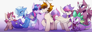 Parker-Sparkle family by FoxInShadow
