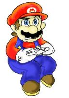 Tablet Practice - Mario by pocket-arsenal