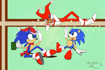 Sonic Holiday Postcard by OllyChimera