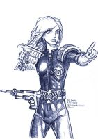 Daily Sketches Psi Judge Anderson by fedde