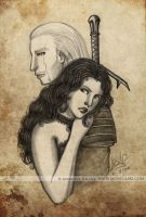 Geralt and Yennefer by Monica-NG