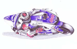 Jorge Lorenzo, 99, Ballpoint Pen by onecuriouschip