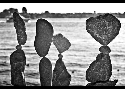 balancing rocks by Rainfeather