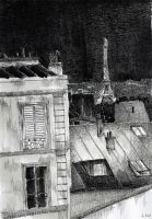 For sale - Roofs of Paris by nicolasjolly
