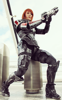 Commander Shepard Cosplay by TashaValentine