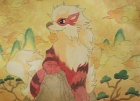 Arcanine in Japan by starbuxx