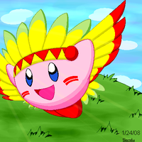 Simple Winged Kirby by G-Bomber