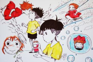 Ponyo Scenes by Beauty17