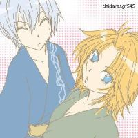 Bleach- Chibi Gin and Rangiku by deidarasgf545