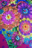 Mosaiced Flowers by atLevel1Alt