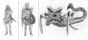 Leven Goud Characters by RudolphEurich