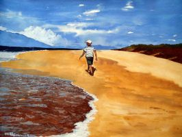 Walk on the Beach by aakritiarts