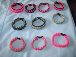 Bracelets I am selling at the by Sugarrat77