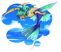 Ural the little merman by Lithiel