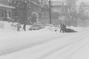 2015 January Blizzard, the Clean Up by Miss-Tbones
