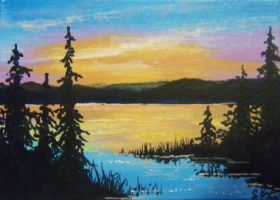ACEO Evening Glow by annieoakley64