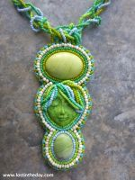 Green Goddess pendant by Lost-in-the-day