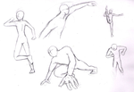 Practicing human anatomy: Sports by Baztey