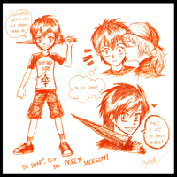 PercyJackson Doodles :spoiler: by germanmissiles