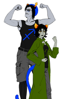 Equius And Nepeta by katiepox