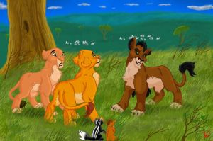 Bambi 2 as The Lion King by Frodo-Lion
