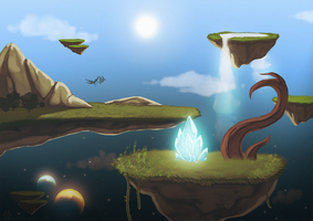 Floating Islands by DragonOfIceAndFire