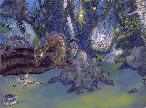 Enchanted forest color test by MuseTerra