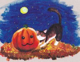 Halloween-Cat by MessiahDeath