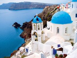 Church In Oia by TooBlueNote