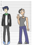 Zeke And Ryo Heights by broslasher