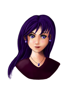 Manga_Girl_Medibang_Purple by Silmegil
