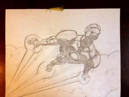 Iron Man Sketch by plaidklaus