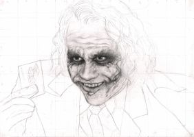 'The Joker' First Stage WIP by Pen-Tacular-Artist