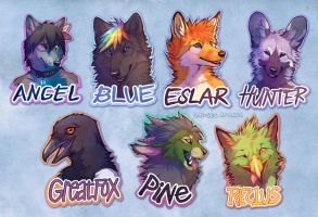 Badges round 1 by Lhuin