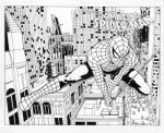 Spider-Man Double Spread Cover by smlshin