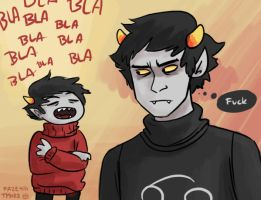 Karkat and Kankri by Tysirr