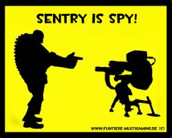 TF2 Sentry is Spy by DiuILoncho